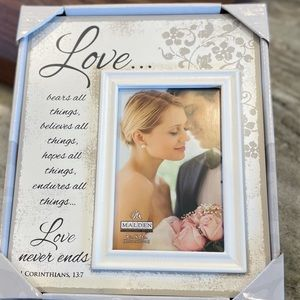 4x6 love scripts wedding picture frame